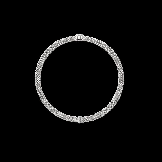 Halskette mit Anhänger Fope Panorama aus 750 Weißgold mit mehreren Brillanten (0,23 Karat)