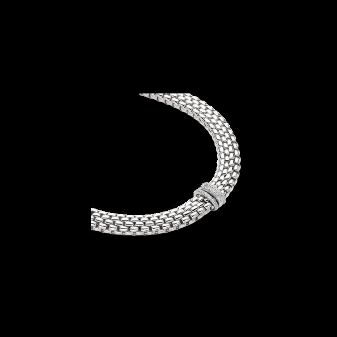 Halskette mit Anhänger Fope Panorama aus 750 Weißgold mit mehreren Brillanten (0,23 Karat) bei Brogle