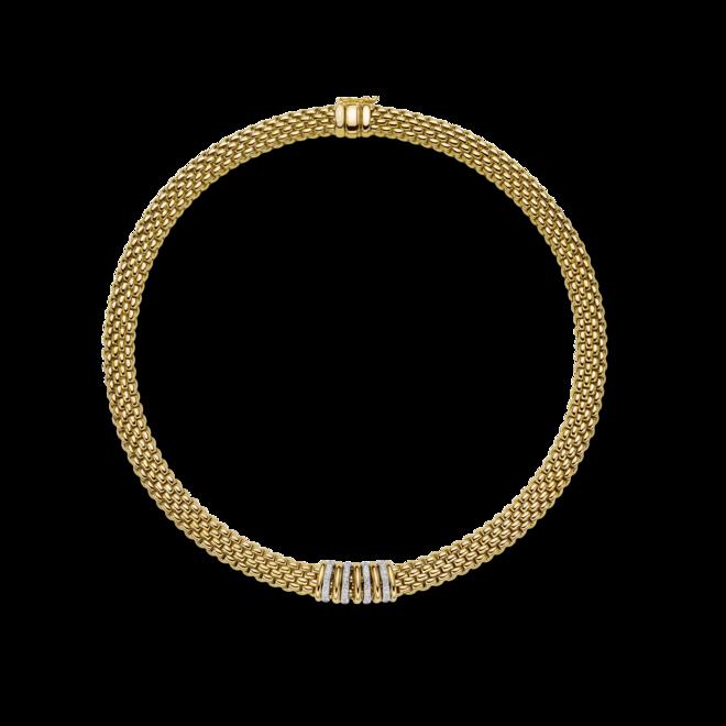 Halskette Fope Panorama aus 750 Gelbgold und 750 Weißgold mit mehreren Brillanten (0,3 Karat)