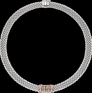 Halskette Fope Panorama aus 750 Weißgold und 750 Roségold mit mehreren Brillanten (0,3 Karat)