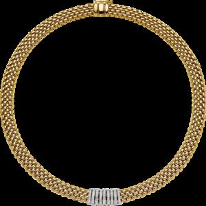 Halskette Fope Panorama aus 750 Gelbgold und 750 Weißgold mit mehreren Brillanten (0,68 Karat)