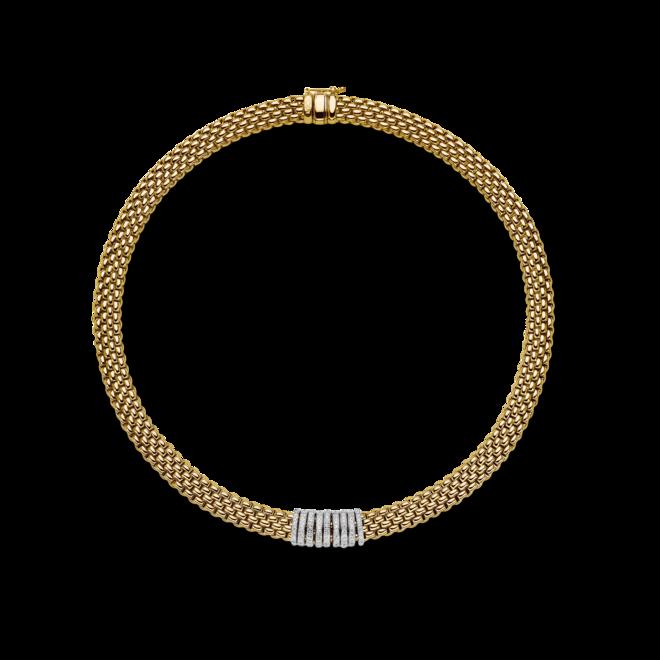 Halskette Fope Panorama aus 750 Gelbgold und 750 Weißgold mit mehreren Brillanten (0,68 Karat) bei Brogle