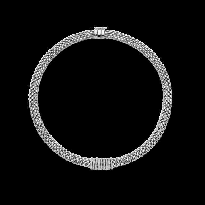Halskette Fope Panorama aus 750 Weißgold mit mehreren Brillanten (0,68 Karat)