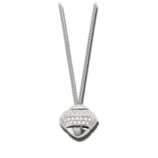 Fope Halskette mit Anhänger Phylo Weißgold 84C-PAVE_WG