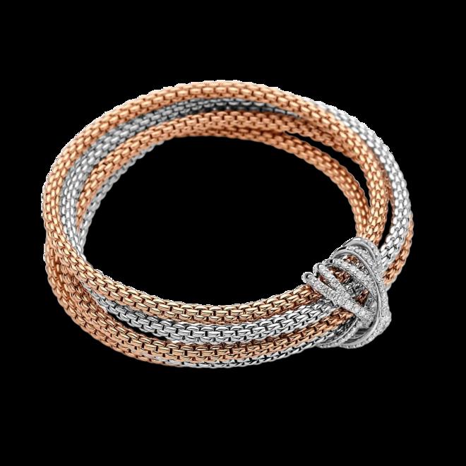 Armband Fope Prima Flex 'it Mialuce aus 750 Roségold und 750 Weißgold mit mehreren Brillanten (1,31 Karat) Größe S bei Brogle
