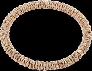 Armband Fope Flex'it Prima aus 750 Roségold und 750 Weißgold mit mehreren Brillanten (3,96 Karat) Größe S