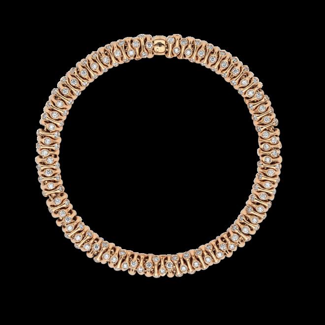 Armband Fope Flex'it Prima aus 750 Roségold und 750 Weißgold mit mehreren Brillanten (3,96 Karat) Größe S bei Brogle