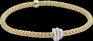 Armband Fope Flex'it Prima aus 750 Gelbgold mit mehreren Brillanten (0,31 Karat) Größe XS