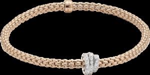 Armband Fope Flex'it Prima aus 750 Roségold mit mehreren Brillanten (0,31 Karat) Größe XS