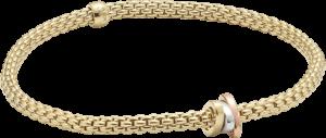 Armband Fope Flex'it Prima aus 750 Gelbgold, 750 Weißgold und 750 Roségold Größe XS