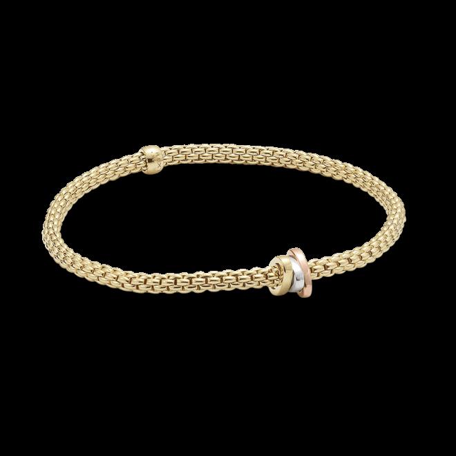 Armband Fope Flex'it Prima aus 750 Gelbgold, 750 Weißgold und 750 Roségold Größe XS bei Brogle