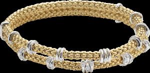 Armband Fope Flex'it Prima aus 750 Gelbgold und 750 Weißgold mit mehreren Brillanten (0,37 Karat) Größe XS