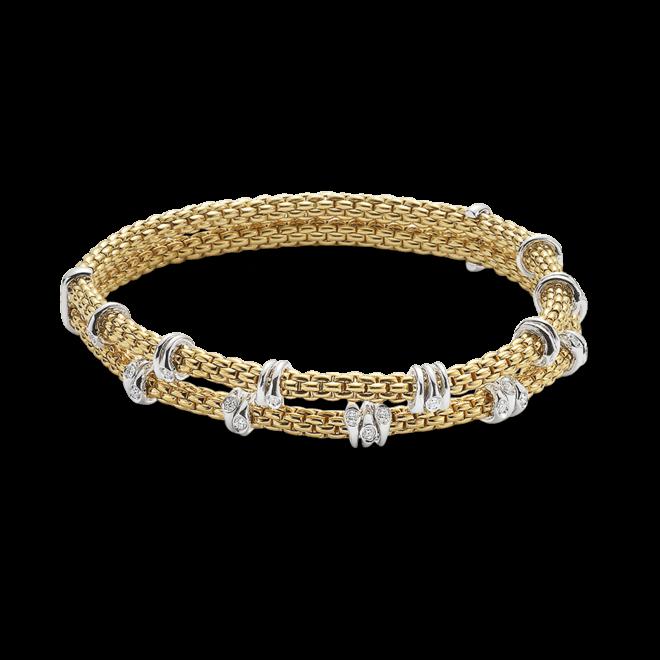 Armband Fope Flex'it Prima aus 750 Gelbgold und 750 Weißgold mit mehreren Brillanten (0,37 Karat) Größe XS bei Brogle