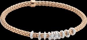 Armband Fope Flex'it Prima aus 750 Roségold und 750 Weißgold mit mehreren Brillanten (0,15 Karat) Größe XS