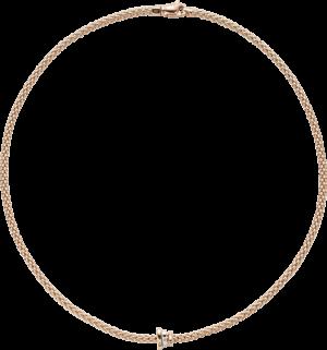 Halskette Fope Flex'it Prima aus 750 Roségold, 750 Weißgold und 750 Gelbgold