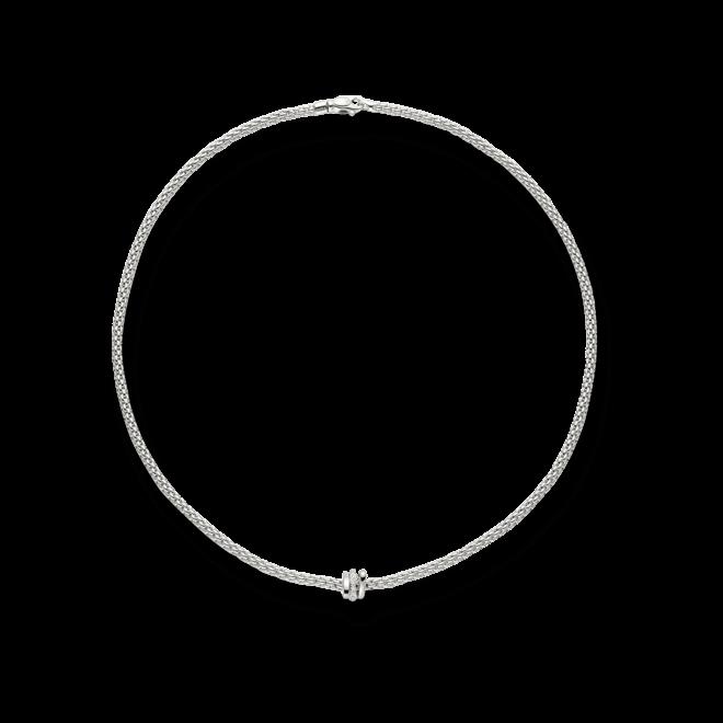 Halskette Fope Flex'it Prima aus 750 Weißgold mit mehreren Brillanten (0,1 Karat)