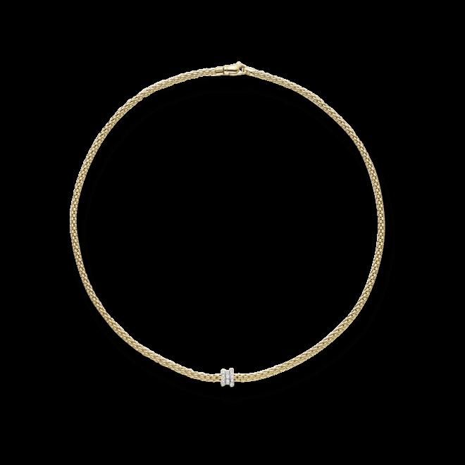 Halskette Fope Flex'it Prima aus 750 Gelbgold mit mehreren Brillanten (0,31 Karat)