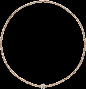 Halskette Fope Flex'it Prima aus 750 Roségold mit mehreren Brillanten (0,31 Karat)