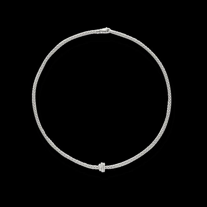 Halskette Fope Flex'it Prima aus 750 Weißgold mit mehreren Brillanten (0,31 Karat)
