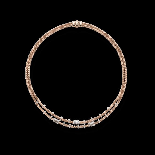 Halskette Fope Flex'it Prima aus 750 Roségold mit mehreren Brillanten (0,45 Karat) bei Brogle
