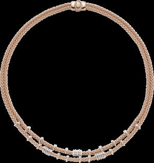 Halskette Fope Flex'it Prima aus 750 Roségold mit mehreren Brillanten (0,45 Karat)
