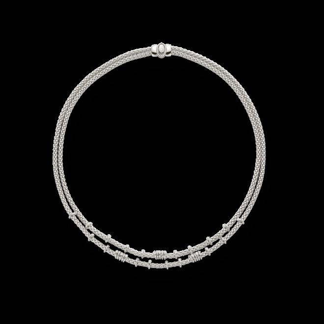 Halskette Fope Flex'it Prima aus 750 Weißgold mit mehreren Brillanten (0,45 Karat)