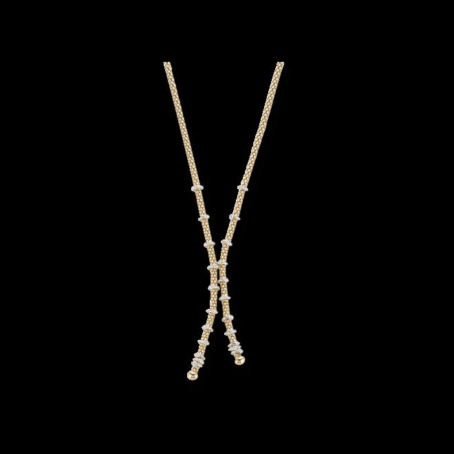 Halskette Fope Flex'it Prima aus 750 Gelbgold mit mehreren Brillanten (0,3 Karat)