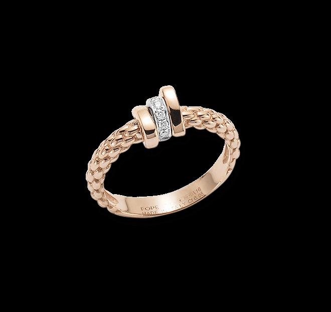 Ring Fope Flex'it Prima aus 750 Roségold und 750 Weißgold mit mehreren Brillanten (0,05 Karat) bei Brogle