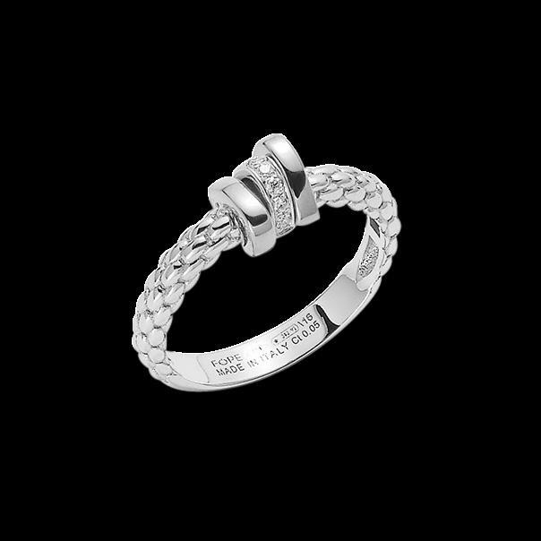 Ring Fope Flex'it Prima aus 750 Weißgold mit mehreren Brillanten (0,05 Karat)