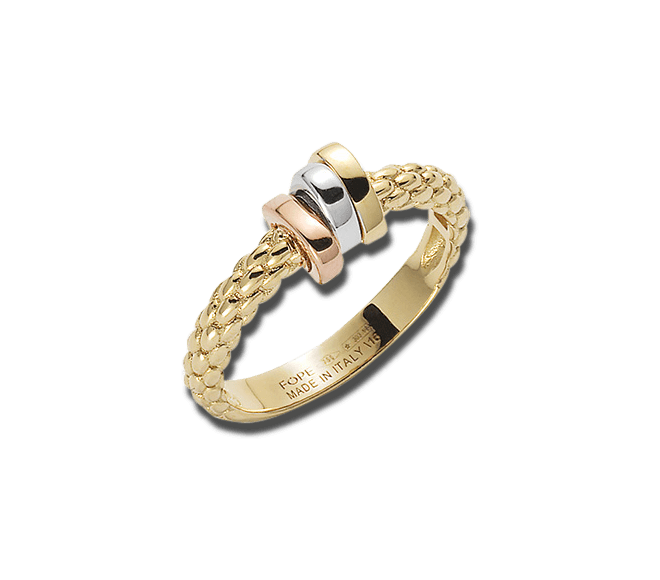 Ring Fope Flex'it Prima aus 750 Gelbgold, 750 Weißgold und 750 Roségold bei Brogle