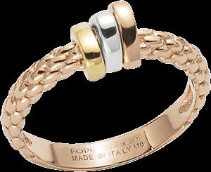 Ring Fope Flex'it Prima aus 750 Roségold, 750 Weißgold und 750 Gelbgold