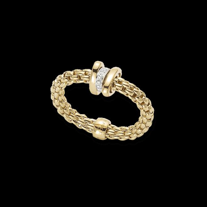 Ring Fope Flex'it Prima aus 750 Gelbgold mit mehreren Brillanten (0,1 Karat)