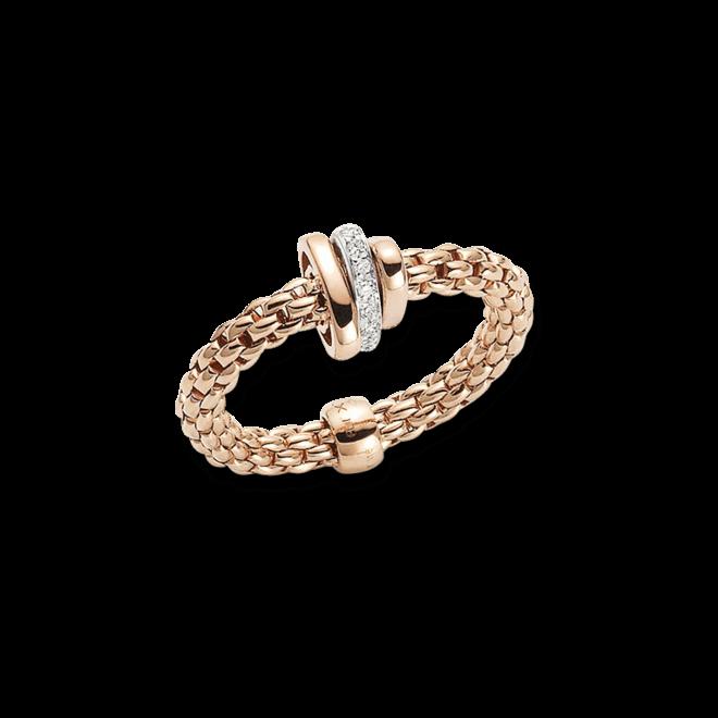 Ring Fope Flex'it Prima aus 750 Roségold mit mehreren Brillanten (0,1 Karat)
