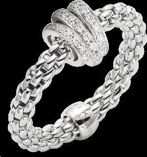 Ring Fope Flex'it Prima aus 750 Weißgold mit mehreren Brillanten (0,31 Karat)