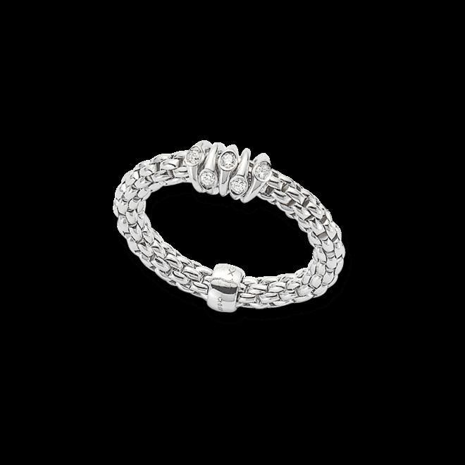 Ring Fope Flex'it Prima aus 750 Weißgold mit mehreren Brillanten (0,07 Karat) Größe S (49-53) bei Brogle