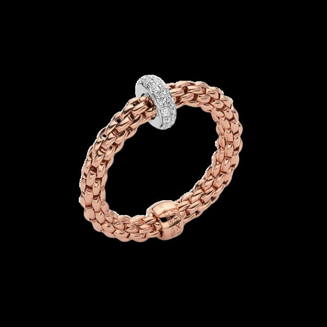 Ring Fope Prima Flex´it aus 750 Roségold und 750 Weißgold mit mehreren Brillanten (0,18 Karat) Größe S (49-53) bei Brogle