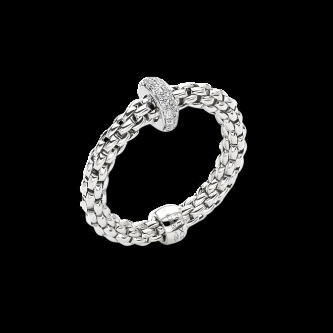 Ring Fope Prima Flex´it aus 750 Weißgold mit mehreren Brillanten (0,18 Karat) Größe S (49-53)