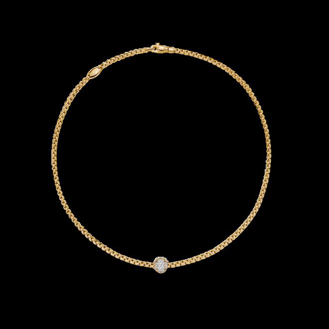 Halskette Fope Prima aus 750 Gelbgold, 750 Weißgold und 750 Roségold mit mehreren Brillanten (0,69 Karat)