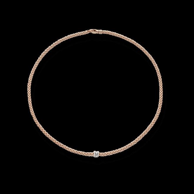 Halskette Fope Prima aus 750 Roségold und 750 Weißgold mit mehreren Brillanten (0,12 Karat) bei Brogle