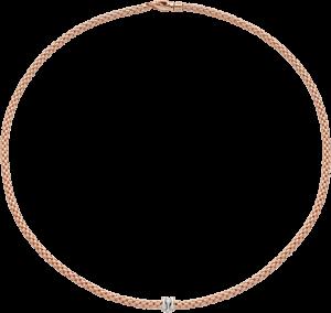 Halskette Fope Prima aus 750 Roségold und 750 Weißgold mit mehreren Brillanten (0,12 Karat)