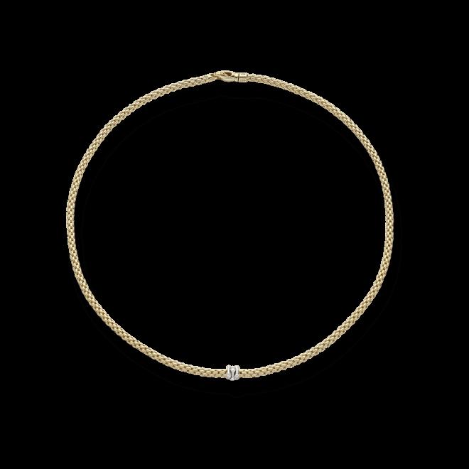 Halskette Fope Prima aus 750 Gelbgold und 750 Weißgold mit mehreren Brillanten (0,12 Karat)