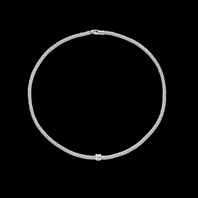 Halskette Fope Prima aus 750 Weißgold mit mehreren Brillanten (0,12 Karat)