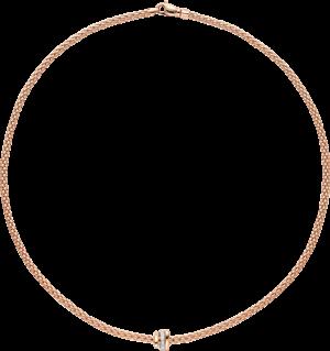 Halskette Fope Prima aus 750 Roségold mit mehreren Brillanten (0,1 Karat)