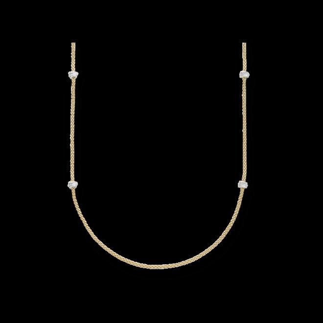 Halskette Fope Prima aus 750 Gelbgold und 750 Weißgold mit mehreren Brillanten (1,24 Karat) bei Brogle