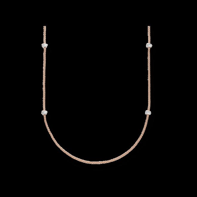 Halskette Fope Prima aus 750 Roségold und 750 Weißgold mit mehreren Brillanten (1,24 Karat)