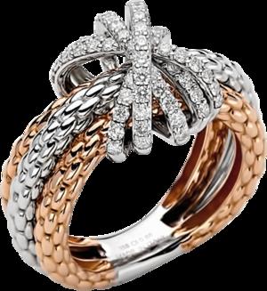 Ring Fope Prima Mialuce aus 750 Roségold und 750 Weißgold mit mehreren Brillanten (0,88 Karat)
