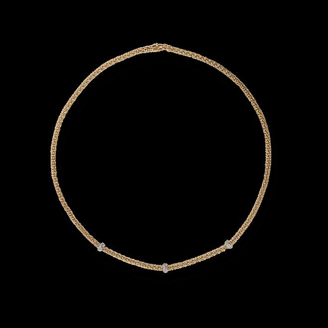 Halskette Fope Loop aus 750 Roségold mit mehreren Brillanten (0,28 Karat)
