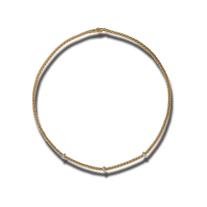 Halskette Fope Loop Roségold aus 750 Roségold mit mehreren Brillanten (0,28 Karat)