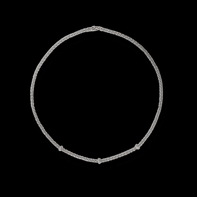 Halskette Fope Loop Weißgold aus 750 Weißgold mit mehreren Brillanten (0,28 Karat)