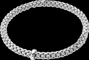 Armband Fope Flex'it Solo aus 750 Weißgold Größe M
